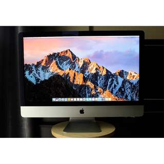 Selling Enterprise Grade Thin iMac 27-inch, Outlook 9.5/10 (No Scratches / Dents) Under Office Care, 3.2 GHz Intel Core i5, Late-2012, macOS High Sierra, 8 Gigs Mem, 1 TB HDD, 1 Gig NVIDIA Graphics, MagicMouse & Keyboard, Office:mac 2011, Contact 93528496