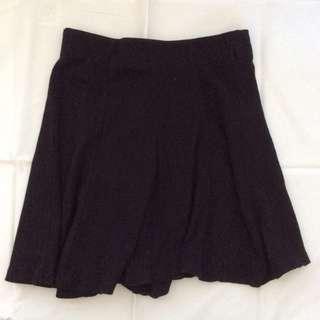 Bershka Ribbed Skater Skirt