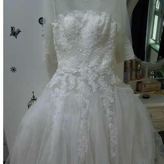 婚紗連頭飾