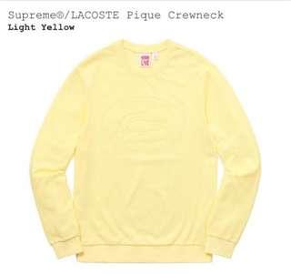 (代購) Supreme LACOSTE Pique Crewneck