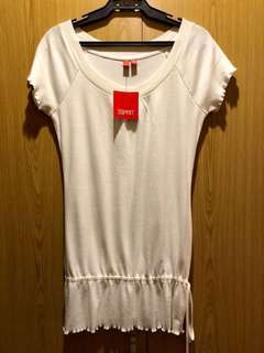 BNWT Authentic Esprit Stylish White Blouse