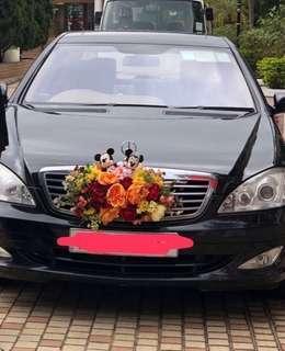 結婚車花 Lemongrass 連一對正版結婚米奇加lemongrass 高質結婚車花一對