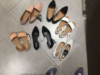 Shoes flats sneaker loafers black white nude peach