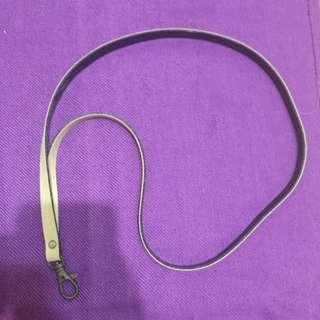 皮革 吊繩 頸繩 證件套繩子 米色