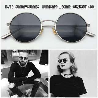 Round brushed metal sunglasses (oliver people ov1197 style) 太陽眼鏡