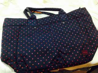 Head porter red star navy tote bag