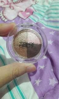 tony moly triple dome eyeshadow nude, pink& brown