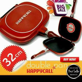 HAPPYCALL HAPPY CALL DOUBLE PAN ORIGINAL 32CM JUMBO KULIT JERUK