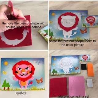DIY handicrafts set for toddlers- goodies bag, goody bag gift, goodie bag packages or event door gift