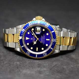 Rolex Submariner 16613LB Good Condition Just Serviced!
