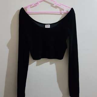 Mossimo Velvet Crop Top