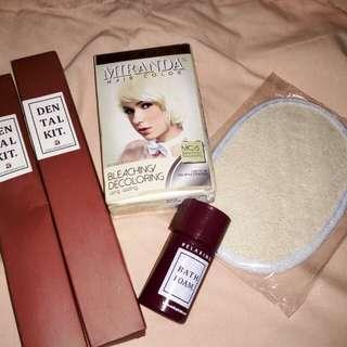 Highlight rambut + spons mandi