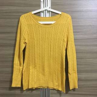 🚚 芥末黃針織毛衣