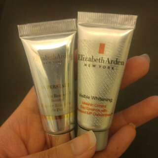 Elizabeth Arden visible whitening day essence and skin renewal booster