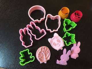 Cookie mould, cookie cutter and sausage cutter