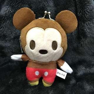 🚚 米奇 米妮 零錢包 3吋 娃娃 玩偶 吊飾