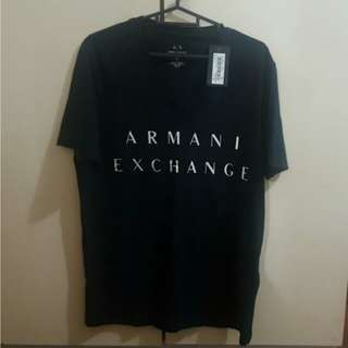 Armani Exchange Men Logo Tee NEW Navy size M