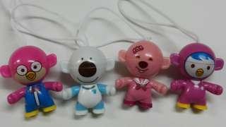四個可愛卡通人物吊飾