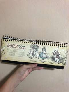 alice in wonderland standing planner