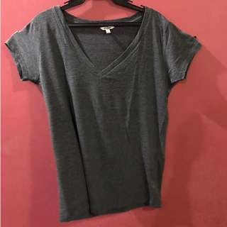 Forever 21 Dark Gray V-Neck Top