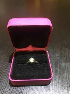 18K鑽石戒指1卡( 有證書)