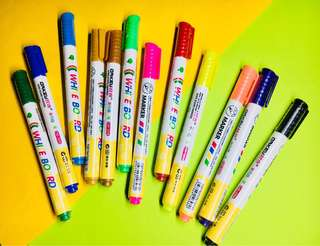 Rainbow Whiteboard Marker Set of 12