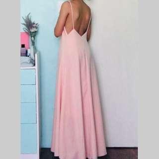 Pastel Pink Maxi Dress