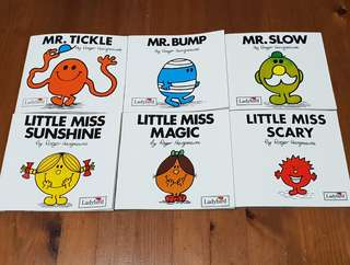 11 Mr Men and Little Miss Books