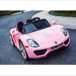 In-stock - Pink Porche kids electric car