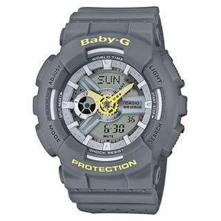 CASIO Baby-G BA-110 series BA-110PP 灰色 BabyG BA110PP