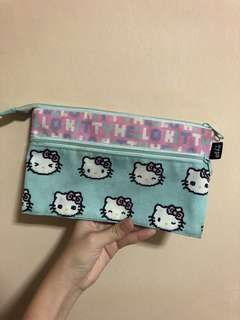 typo hello kitty double compartment pencil case