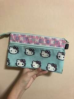 typo hello kitty double compartment pencil case