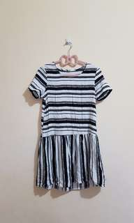 Korean stripes mini dress