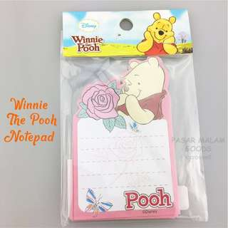Winnie The Pooh Notepad Memo Message Pad Small Writing Write Note Paper