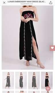 Kissablebella embriodery tube dress in black