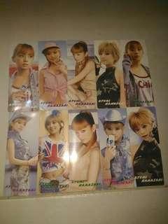 包郵 中古 早期 懷舊 書簽 10張 濱崎步 浜崎あゆみ Hamasaki Ayumi