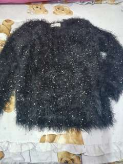 H&m sequined sweater for girls