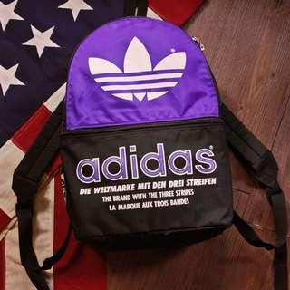 老品 古著復古 Vintage 90s 早期日本製adidas 大logo 後揹包  made in JAPAN