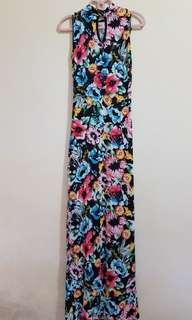ITALIA floral maxi dress