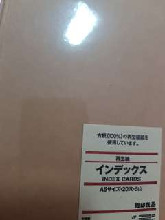 Muji A5 index cards and loose leaf