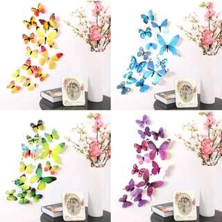 Sticker 3D Wall Butterfly | Stiker Dinding Kupu Kupu