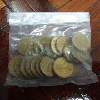 1 ringgit coins