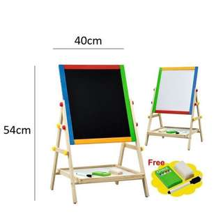 Two sided magnetic educational board/ white board / black board