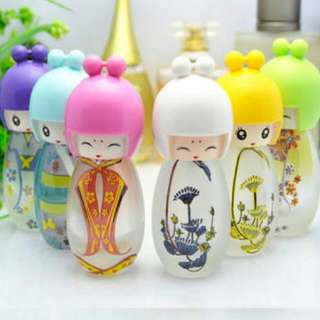 6 Pcs 20ml Empty Perfume Spray Doll Bottle