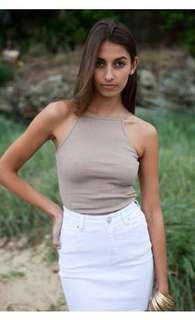 White Fox Boutique FiFi Camel top