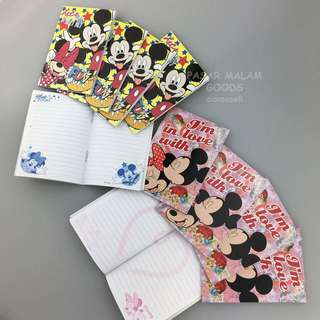Instock Mickey Mouse Minnie Mouse Notebook Memo Pad Small Writing Write Note Paper