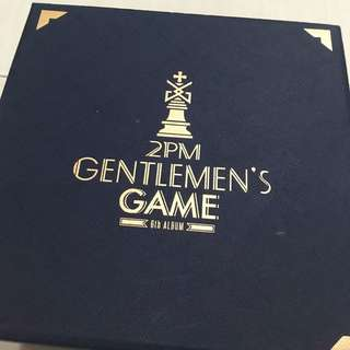 2PM 6th album Gentleman's Game limited edition