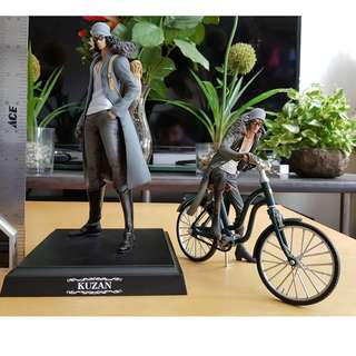 Kuzan and Bicycle Aokiji Big Figure 2pcs