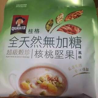 桂格 全天然無加糖 超級穀珍 核桃堅果