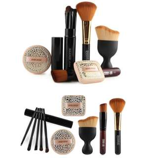 Make Up Brush Set Tool with Face Puff Foundation Soft Brush Set